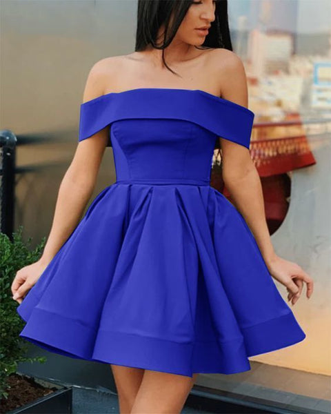 royal blue short prom dress ,graduation dress,homecoming gown,6202