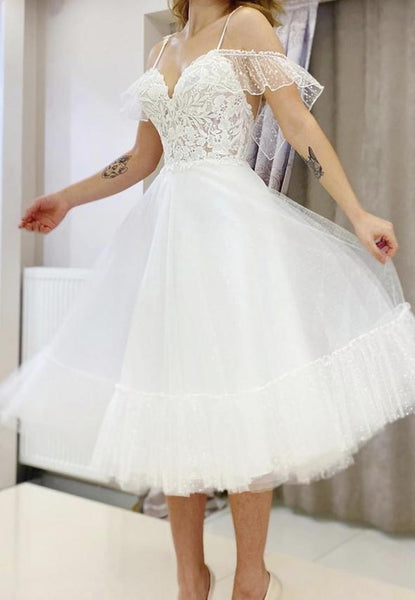White lace tulle short prom dress homecoming dress,6217