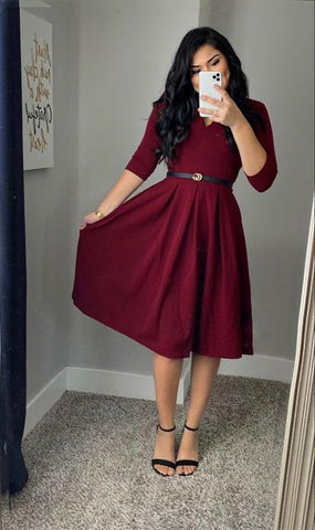 Modest Holiday Dresses. Holiday Dress outfits. Winter modest outfits. Formal Dress prom dress,6330