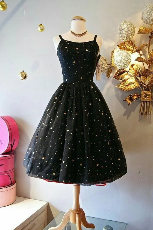Short HOmecoming Dresses, Black Homecoming Dresses Party Dresses,6356