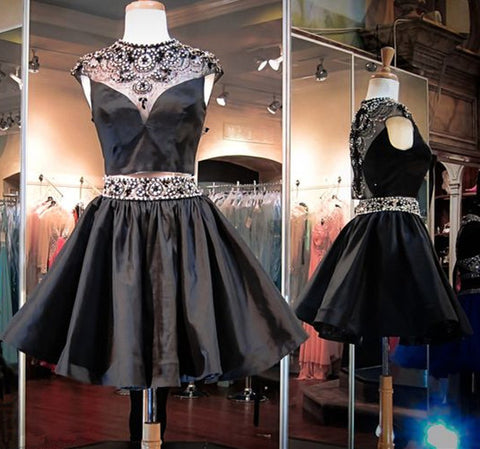 Homecoming Dresses,Short Prom Gown,Black Homecoming Gowns,Sweet 16 Dress,6449