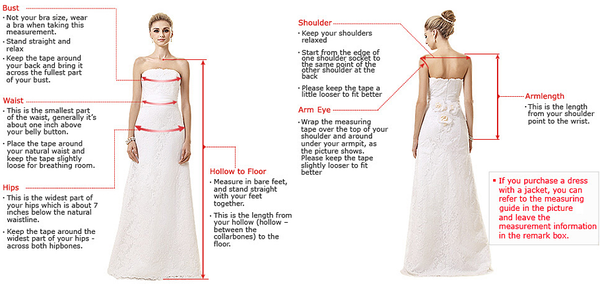 Straps V Neck White Long Bridal Gown, F0512