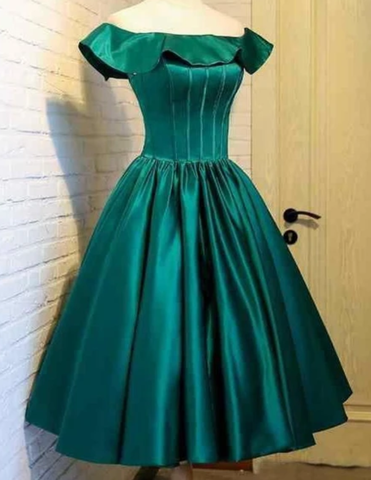Homecoming Dresses off shoulder green homecoming dress,9661
