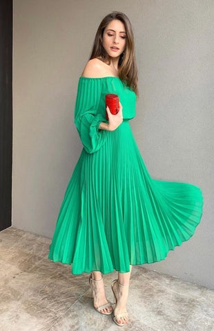 Off the shoulder green prom dress,9835