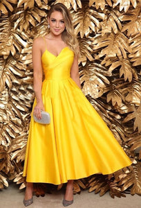 Long A-line Bridesmaid Dress, Prom Dress .9838