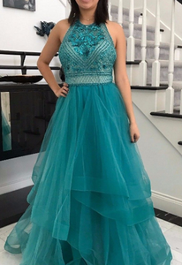 Halter Beading Elegant Prom Dress,Long Prom Dresses,Prom Dresses,Evening Dress, Evening Dresses,Prom Gowns, Formal Women Dress,AE423