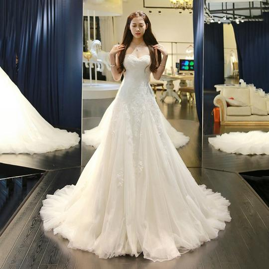 Sweetheart Lace Appliques Wedding Dresses Backless Bridal Dresses,AP548