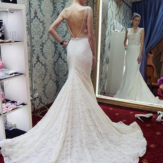Sleeveless Lace Appliques Wedding Dresses Mermaid Bridal Dresses,AP552