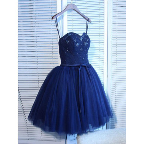 Navy Homecoming Dresses, Blue Homecoming Dresses, Homecoming Dresses A-Line,AP650