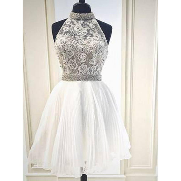 Homecoming Dresses Simple, Homecoming Dresses Short, White Homecoming Dresses, Homecoming Dresses 2019,AP677