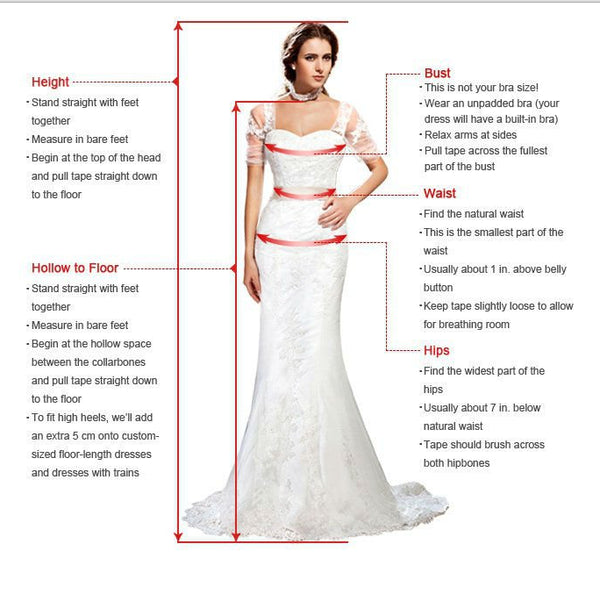 V Neck Long Sleeve Beaded Prom Dresses Backless Split Evening Dresses,B0999
