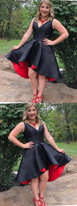 Customized Dazzling Black Homecoming Dresses, Homecoming Dresses High Low, Homecoming Dresses Simple, Plus Size Homecoming Dresses,B0020