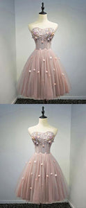 Cheap Comfortable Short Prom Dresses, Pink Prom Dresses,B0053
