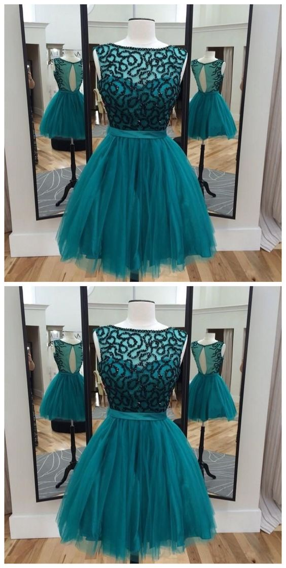 Homecoming Dresses,Beaded Ball Gowns Graduation Dress.B0253