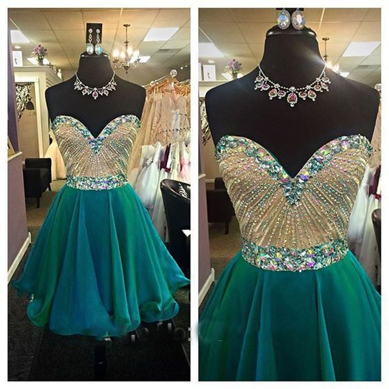Homecoming Dress,Homecoming Dresses,Sweetheart Homecoming Gowns,Short Prom Dress,Beading Prom Dresses,Cute Sweet 16 Dress,Evening Dresses For Teens,B0290