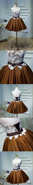 Sweetheart Homecoming Dress Lace Bowknot Short Prom Dress Party Dress,B0300