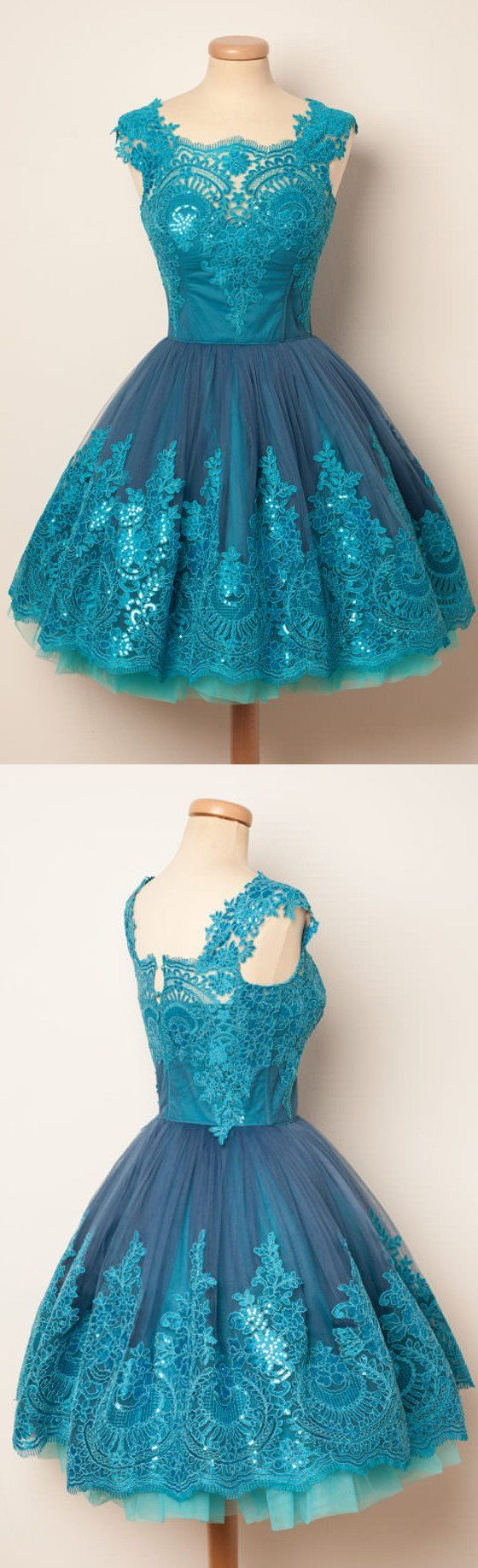 Blue Unique Applique Lovely Affordable Short Homecoming Dresses,B0333