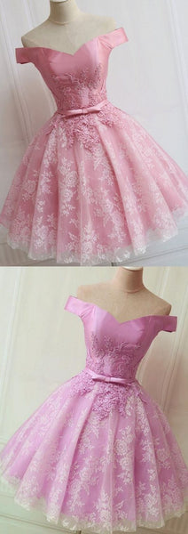 Custom Made A-line/Princess Party Prom Dresses Short Pink,B0423