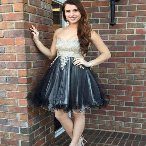 Sweetheart Grey Skirt Cheap Short Homecoming Dresses Online, Homecoming Prom Gown,B0472