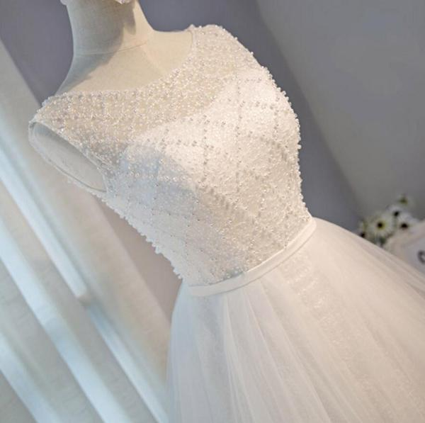 Scoop Neckline Ivory Lace Beaded Homecoming Prom Dresses, Affordable Short Party Prom Dresses, Perfect Homecoming Dresses,B0532