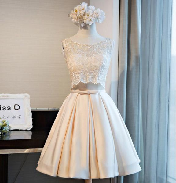 Lace Scoop Neckline Homecoming Prom Dresses, Affordable Short Party Prom Dresses, Perfect Homecoming Dresses,B0547