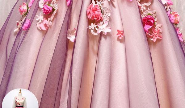 Long Sleeve Hand Made Flower Cute Homecoming Prom Dresses, Affordable Short Party Prom Dresses, Perfect Homecoming Dresses,B0580