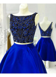 Homecoming Dresses Two Piece, Homecoming Dresses Short, Prom Dress 2019,B0593
