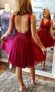 Custom Made Homecoming Dress , Short Backless Mini Prom Dress ,Fashion School Dance Dress, Custom Made Sweet 16 Dress,B0606