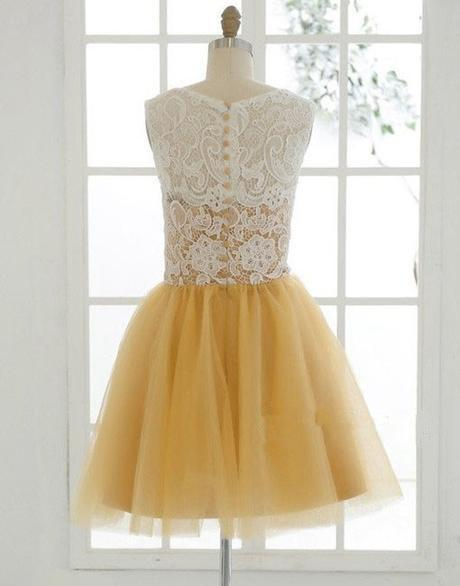 Beautiful Champagne And Tulle Lace Round Neckline Short Party Dress, Lovely Homecoming Dresses 2019,B0616