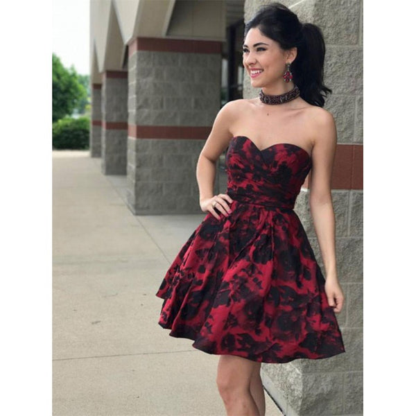 A-line Sweetheart Grace Homecoming Dresses Elegance Prom Dresses,B0755