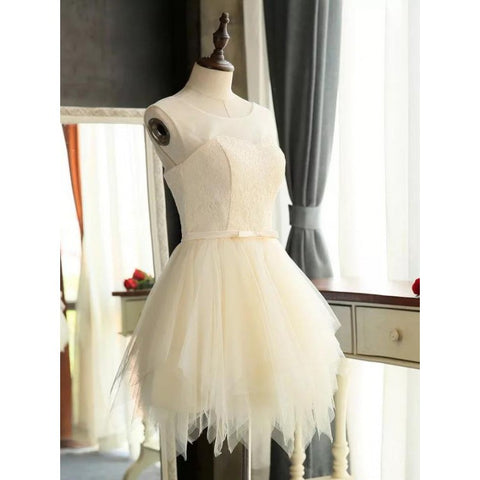 Custom Made Sleeveless Dresses Short White Prom Homecoming Dresses With Bandage Lace Up Mini Easy Party Dresses ,B0764