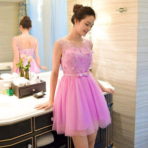 Short Homecoming Dress , Hot Pink Homecoming Dress,Tulle Homecoming Dress,Cute Homecoming Dress,Pretty Homecoming Dress,Homecoming Dress,Cocktail Dresses,B0842