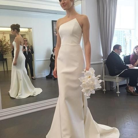 Gorgeous Strapless Mermaid Long Wedding Dress Bridal Gown,C0212
