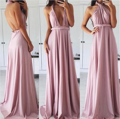 Charming V Neck Prom Dress, Sexy Prom Dress, Backless Evening Dress,C0241