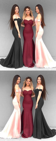 2019 Long Prom Dresses Mermaid, Off-the-shoulder Prom Dresses Jersey, 2019 Formal Dresses For Teens,C0278