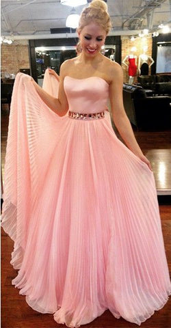 Strapless Prom Dresses, Elegant Long Prom Dresses, Princess Homecoming Dress,C0832