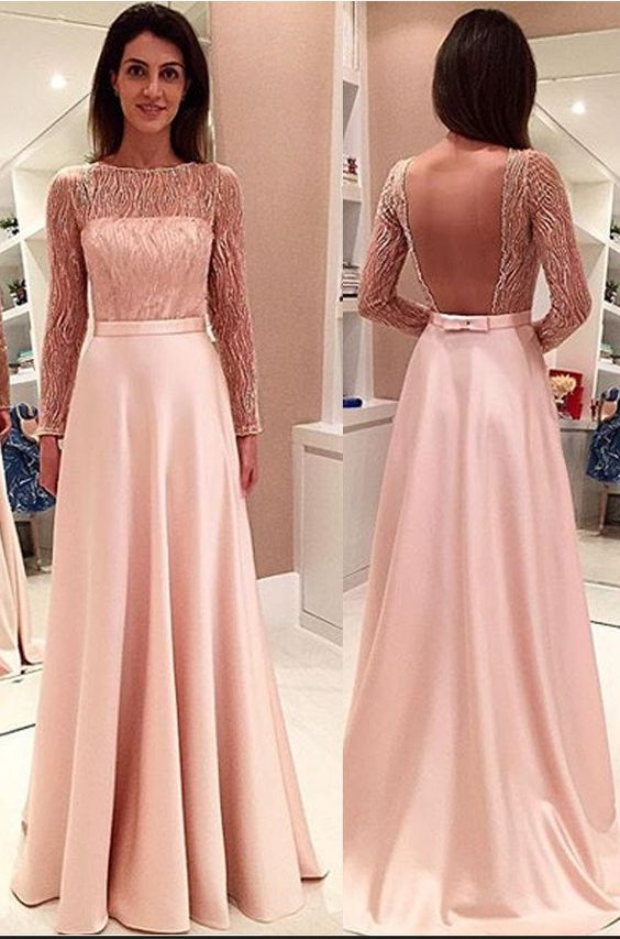 Glamorous Long Sleeveless Open Back Prom Dresses Evening Dresses, D0033