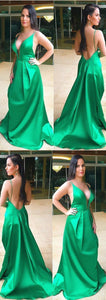 Hunter green prom dresses long formal evening gowns, D0073