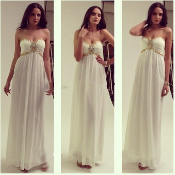 Charming Prom Dress, Sweetheart Chiffon Prom Dresses, Backless, D0077