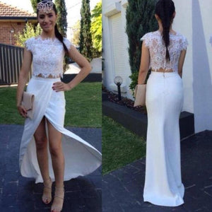 Charming Prom Dress,Two Piece Prom Dress,Sexy Prom Dress,Long Prom Dress, D0110