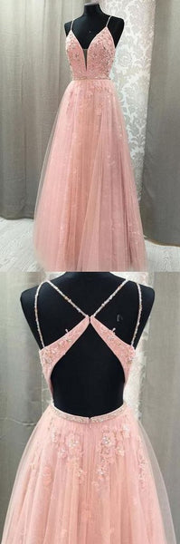 New Arrival Prom Dress,Spaghetti Straps Prom Dress,A-Line Prom Dress,Lace prom Dress,Long Prom Dress,Evening Dress,D0116