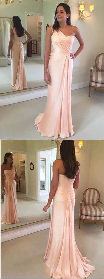 Elegant One Shoulder A-Line Prom Dresses,Long Prom Dresses,Green Prom Dresses, Evening Dress Prom Gowns, Formal Women Dress,Prom Dress, D0128