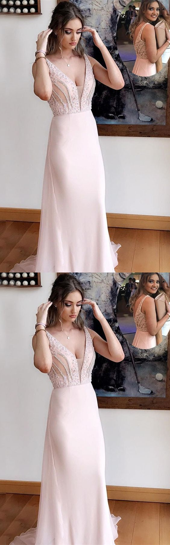 Elegant V-Neck A-Line Prom Dresses,Long Prom Dresses,Cheap Prom Dresses, Evening Dress Prom Gowns, Formal Women Dress,Prom Dress, D0132