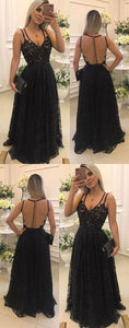 Elegant V-Neck A-Line Prom Dresses,Long Prom Dresses,Green Prom Dresses, Evening Dress Prom Gowns, Formal Women Dress,Prom Dress, D0137
