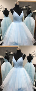Sexy Pleated Tulle V-neck Ruffles Ball Gowns Quinceanera Dresses,D0197