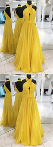 Yellow Prom Dress, Long Evening Dress,prom Dresses, D0322