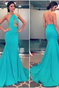 Long Prom Dress,Backless Prom Dresses,Mermaid Prom Dresses,Satin Formal Gowns,Charming Prom Dresses,Halter Prom Dress,Sexy Prom Dresses , D0324