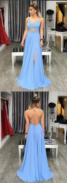 Charming Prom Dress,Sexy Prom Dress,Chiffon Evening Dress,Sleeveless Evening Dresses,Open Back Prom Dresses , D0337