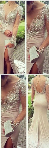 Beading Mermaid Sexy Real Made Prom Dresses,Long Evening Dresses,Prom Dresses On Sale, D0390