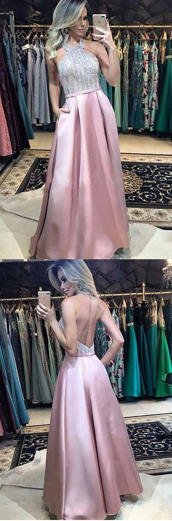 Charming Halter A-Line Prom Dresses,Long Prom Dresses,Green Prom Dresses, Evening Dress Prom Gowns, Formal Women Dress,Prom Dress  , D0447